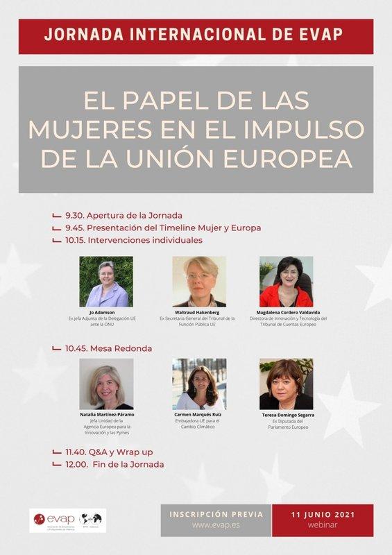 """Jornada """"El papel de las mujeres en el impulso de la Unión Europea"""