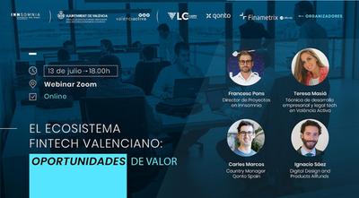 Webinar | El ecosistema Fintech valenciano: oportunidades de valor