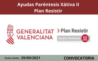 Ayudas Paréntesis Xátiva II - Plan Resistir