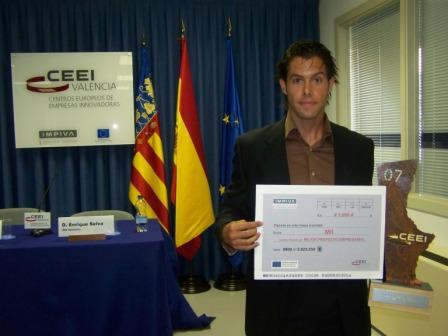 Teófilo Díez-Caballero (Hijo) recogió el Premio CEEI-IMPIVA al Mejor Proyecto Empresarial de 2007