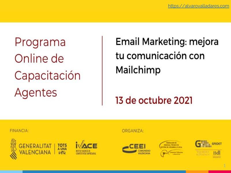 Presentación Email Marketing: mejora tu comunicación con Mailchimp