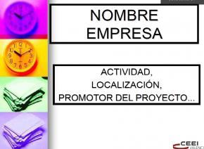 Presentación de proyectos ante inversores #