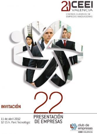 Invitación a la 22ª Presentación de Empresas CEEI Valencia