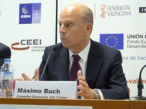 Máximo Buch, Conseller de Economía, Industria y Comercio