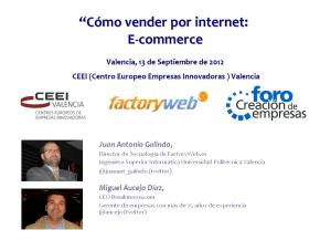 Cómo vender por Internet: E-Commerce