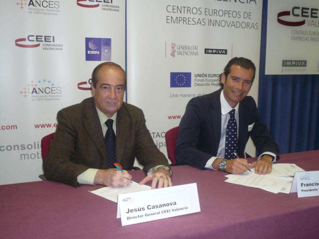Jesús Casanova, director de CEEI Valencia y Paco Gavilán, presidente de la Asociación ITACA