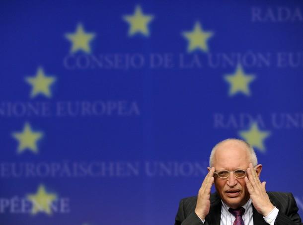 Günther Verheugen, vicepresidente de la Comunidad Europea, responsable de Empresa e Industria