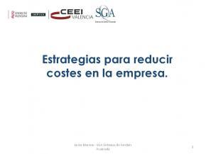 Estrategias para reducir costes en la empresa