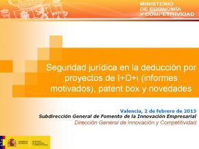 Informes motivados para deducciones fiscales por actividades de I+D+i