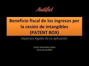 Aspectos legales sobre Patent box