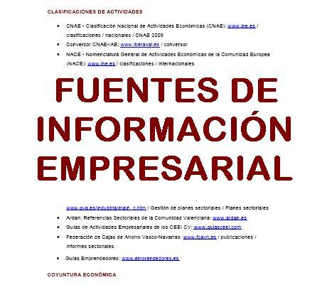 Guía de Apoyo: Fuentes de Información Empresarial