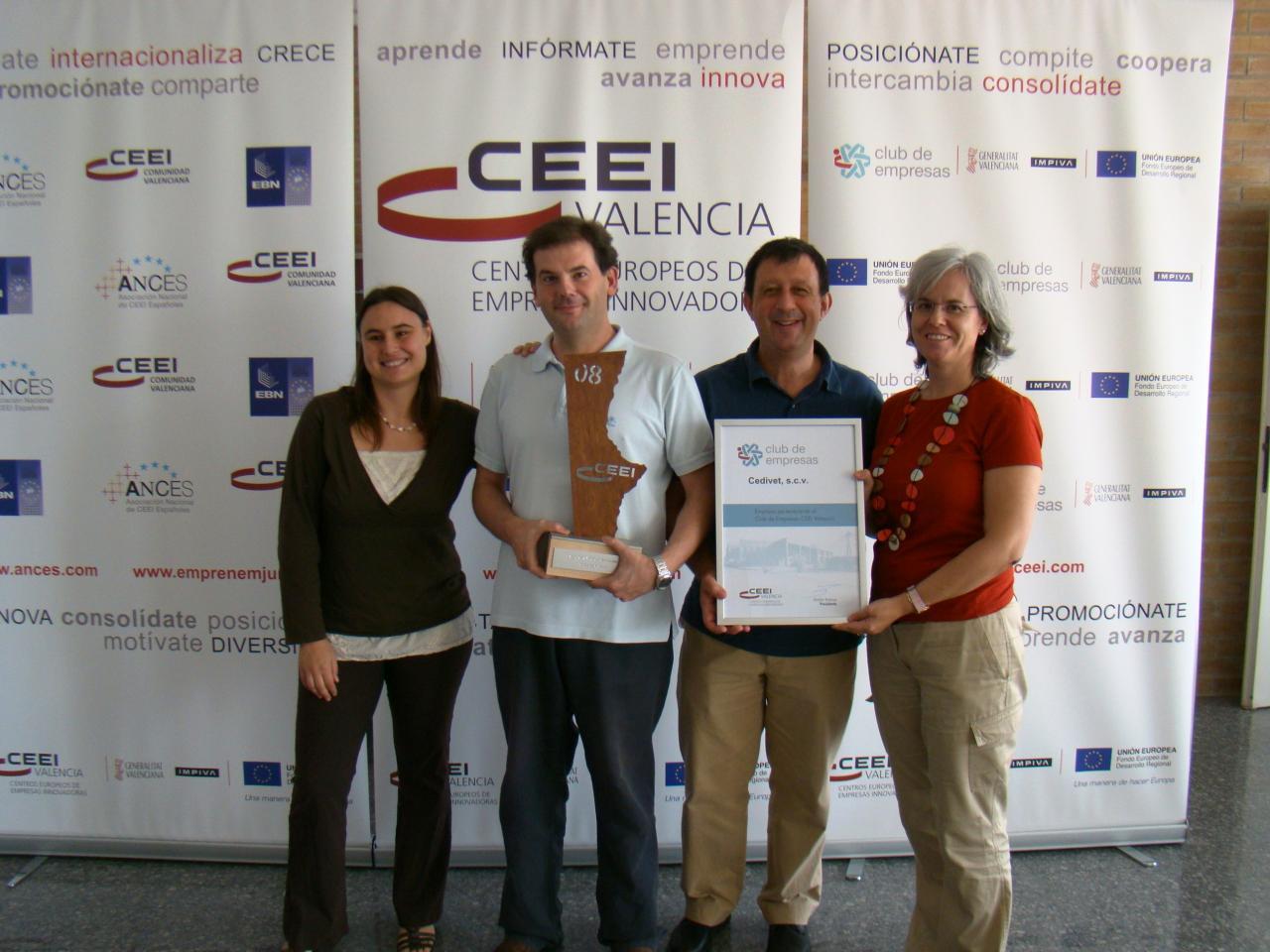 CEDIVET con el Premio CEEI-IMPIVA al Mejor Proyecto Empresarial de 2008
