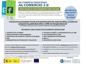 ¡Últimas plazas! Curso online posicionamiento web SEO/SEM: GRATUITO para PYMES y AUTÓNOMOS