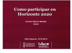 Horizon 2020: Apoyo a las PYME valencianas y Convocatorias 2014-2016