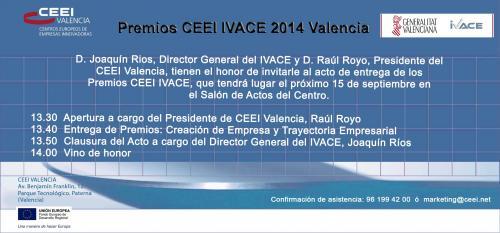 Invitación Premios CEEI IVACE 2014
