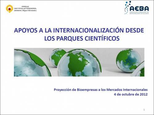 """""""Parquing"""" entre empresas: apoyos a la internacionalización desde los parques científicos."""