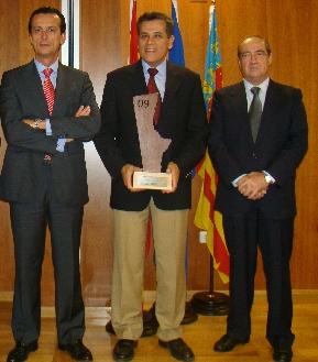 Daniel Moragues, Sergio Guillén, director de TSB y Jesús Casanova
