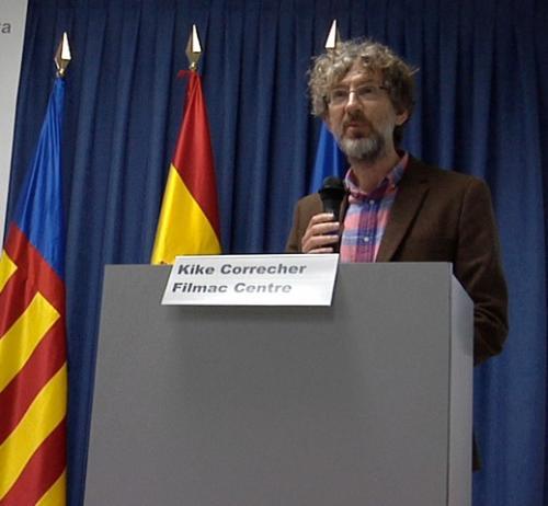 Kike Correcher durante su intervención