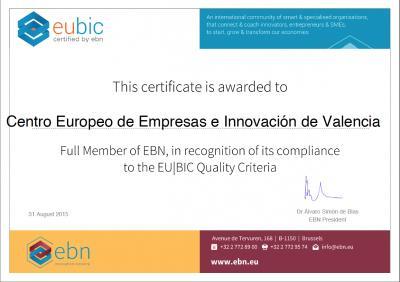 Certificado EU BIC 2016 CEEI Valencia