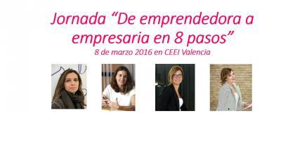 Cartel Jornada Empresarias 8 de marzo