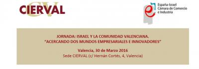 Programa de la Jornada Israel y la Comunidad Valenciana
