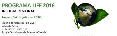 Programa de la Jornada sobre el programa LIFE y la nueva convocatoria 2016