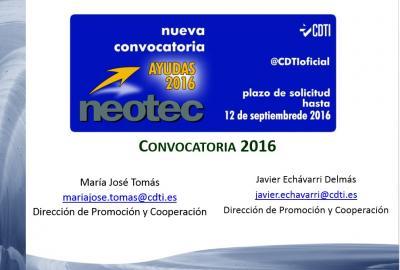Iniciativas y apoyo en el �mbito nacional: Programa NEOTEC