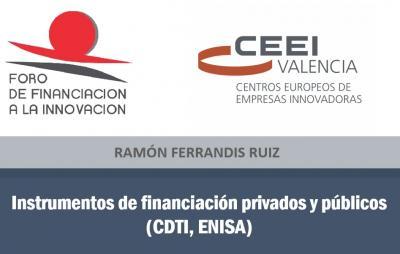 Instrumentos de financiaci�n privados y p�blicos (CDTI, ENISA)