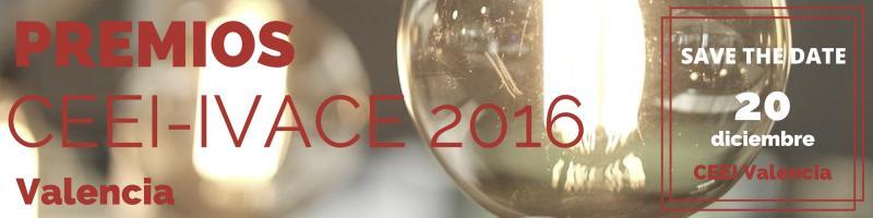 Acto de Entrega de Premios CEEI IVACE 2016 Valencia