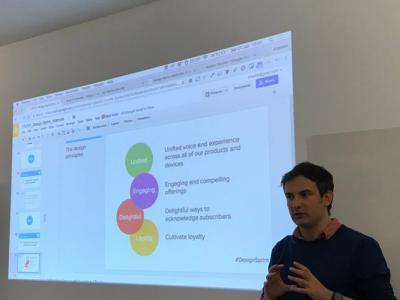 Eusebio Reyero, CEO de Hackity y Google expert explicando los Design Sprint