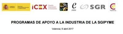 Programas de apoyo a la industria de la SGIPYME