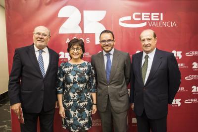 Andrés García Reche, Blanca Marín, Raúl Royo y Jesús Casanova #25añosceei