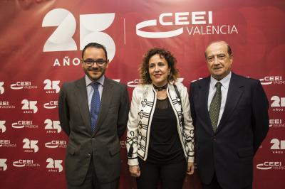 Raúl Royo, Julia Company y Jesús Casanova #25añosceei