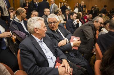 Dionisio Biot, Presidente de SECOT junto a Pepe Portilla, Director de Escuela de Negocios