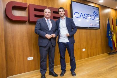 Joaquín Costa, CEO de CASFID recoge el reconocimiento #25añosceei