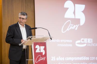 El Conseller de Economía Rafael Climent durante #25añosceei