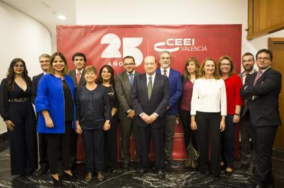 El equipo del CEEI Valencia #25añosceei