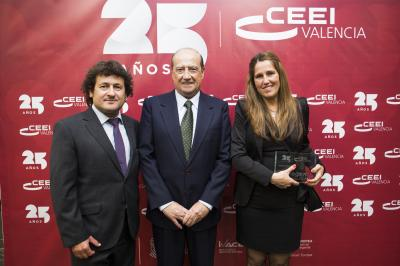 Jesús Casanova con Angela Pérez y Manuel Pérez #25añosceei
