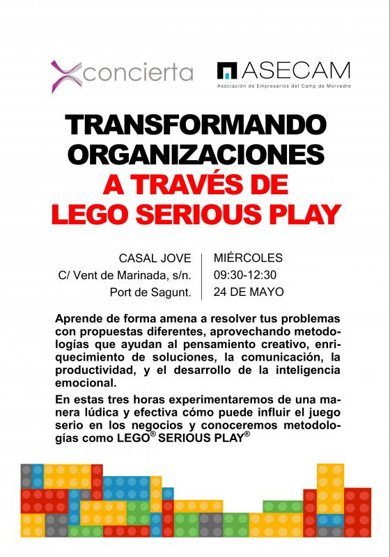 Cartel Jornada Gratuita Interactiva de Lego Serious Play