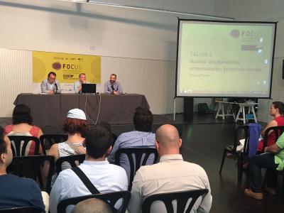 Sesión 'Oportunidades empresariales en la economía circular' en Focus Horta