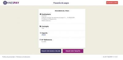 Pasarela de pago online de INESPAY