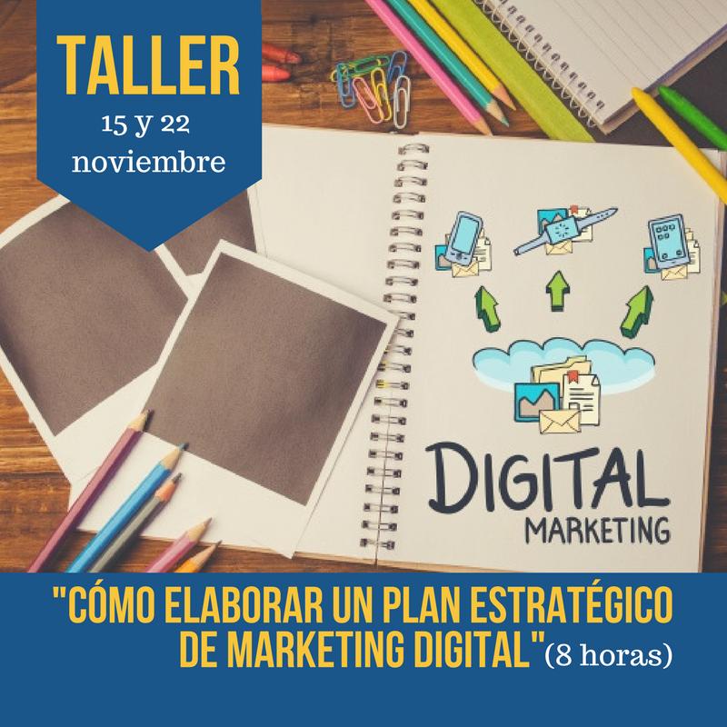 Taller Cómo elaborar un plan de marketing digital