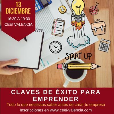 Claves para emprender en CEEI Valencia. Diciembre