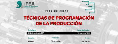 Curso Programación de la producción