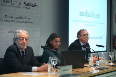 Jornada de la Fundación Étnor sobre retos en la empresa responsable con Amalia Blanco