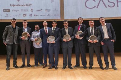 Ganadores Premio Joven Empresario de Valencia 2017