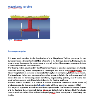 Magallanes Turbine Case Study