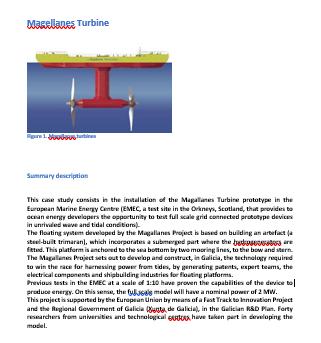 Turbinas Magallanes; Energía Marina