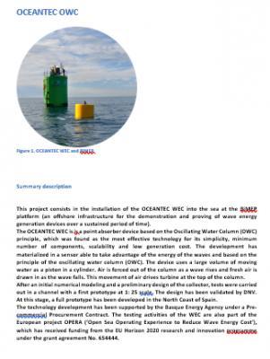 Oceantec OWC - Energía de Olas