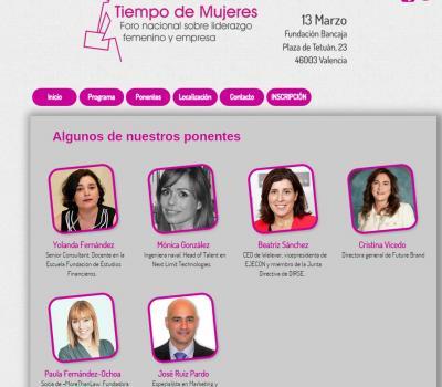 Programa foro mujeres
